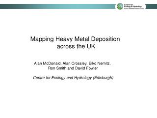 Mapping Heavy Metal Deposition  across the UK