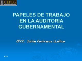 CPCC. Julián Contreras  LLallico