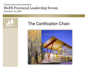 The Certification Chain