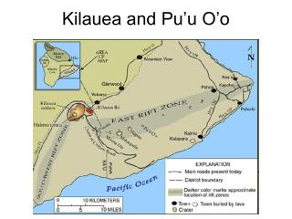 Kilauea and Pu'u O'o