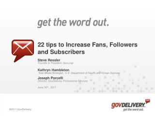 22 tips to Increase Fans, Followers and Subscribers