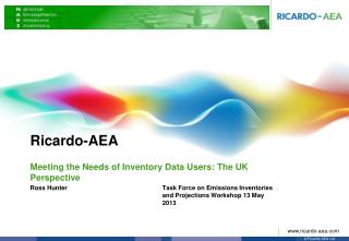 Meeting the Needs of Inventory Data Users: The UK Perspective