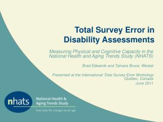Total Survey Error in Disability Assessments
