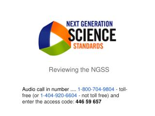 Reviewing the NGSS