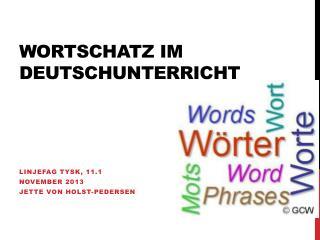 Wortschatz im Deutschunterricht