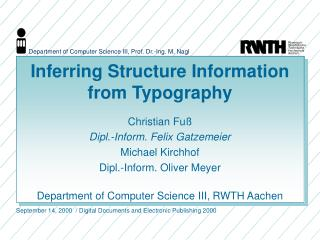 Inferring Structure Information from Typography