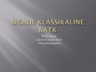 SIgADE KLASSIKALINE KATK