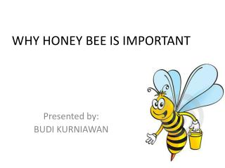 WHY HONEY BEE IS IMPORTANT