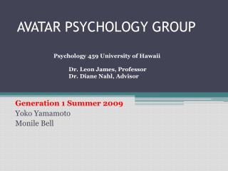 AVATAR PSYCHOLOGY GROUP
