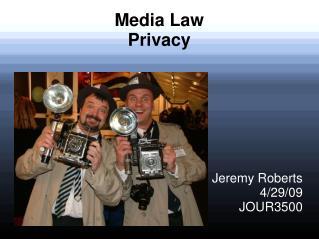 Media Law Privacy