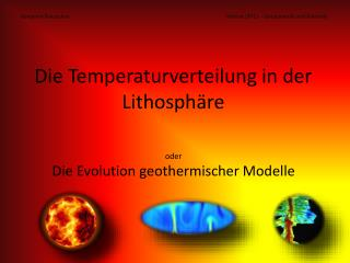 Die Temperaturverteilung in der Lithosph�re
