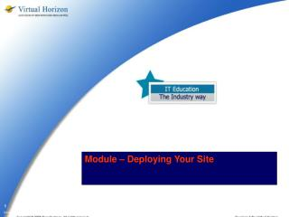Module – Deploying Your Site