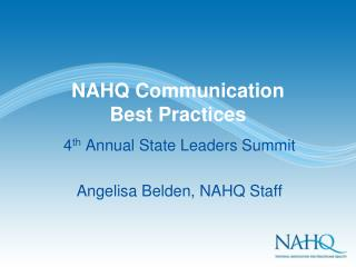 NAHQ Communication  Best Practices