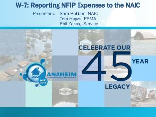 W-7: Reporting NFIP Expenses to the NAIC