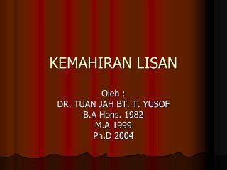 KEMAHIRAN LISAN