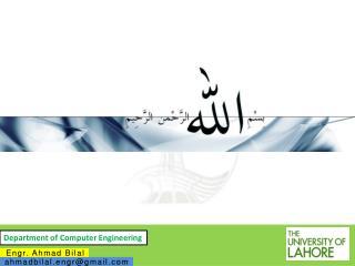 Engr    Ahmad    Bilal