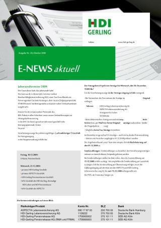 E-NEWS aktuell