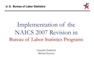 Purpose of NAICS Revision