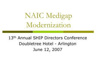 NAIC Medigap Modernization