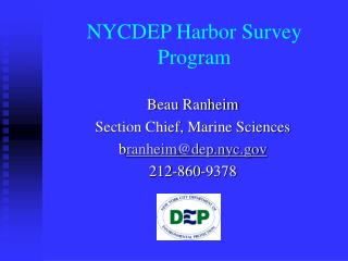 NYCDEP Harbor Survey Program