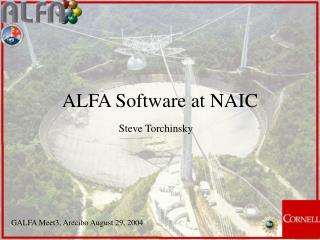 ALFA Software at NAIC