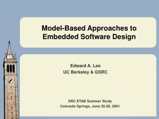 Model-Based Approaches to Embedded Software Design