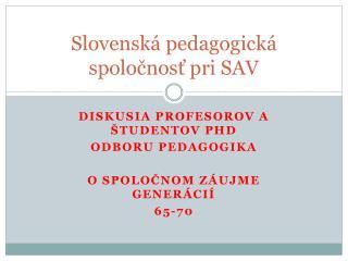 Slovenská pedagogická spoločnosť pri SAV