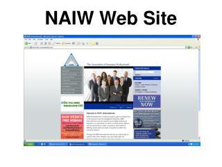 NAIW Web Site
