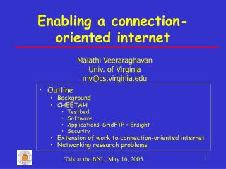 Enabling a connection-oriented internet