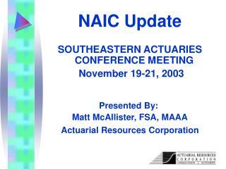 NAIC Update