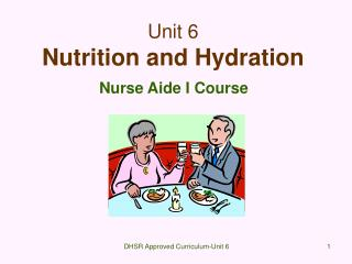 Unit 6 Nutrition and Hydration
