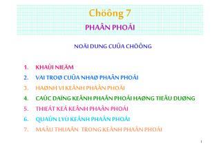 Chöông 7 PHAÂN PHOÁI