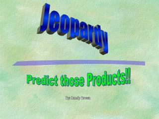 Predict those Products!!