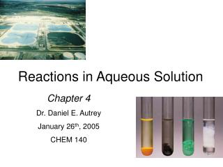Reactions in Aqueous Solution