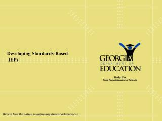 Developing Standards-Based  IEPs
