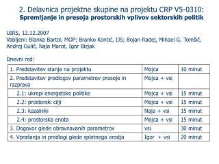 2.  Delavnica projektne skupine na projektu CRP V5-0310: