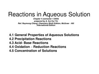 reactions in aqueous solutions metathesis reactions and net ionic equations
