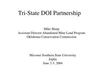 Tri-State DOI Partnership