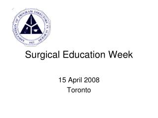 Surgical Education Week