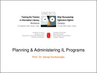 Planning  Administering IL Programs