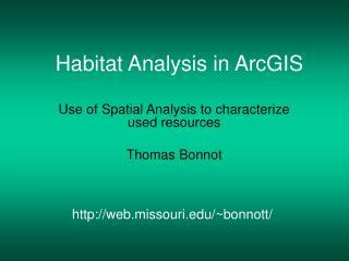 Habitat Analysis in ArcGIS