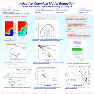 Adaptive Chemical Model Reduction using Computational Singular Perturbation (CSP) Analysis