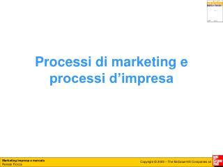 Processi di marketing e processi d�impresa
