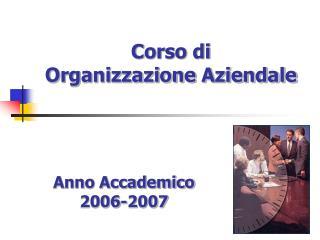 Anno Accademico 2006-2007