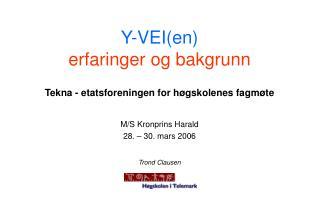 Y-VEI(en) erfaringer og bakgrunn