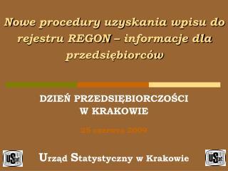 Nowe procedury uzyskania wpisu do rejestru REGON – informacje dla przedsiębiorców