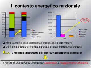 Il contesto energetico nazionale