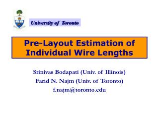 Pre-Layout Estimation of Individual Wire Lengths