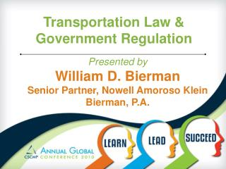 Transportation Law & Government Regulation