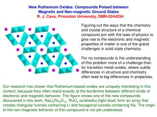 New Ruthenium Oxides: Compounds Poised between  Magnetic and Non-magnetic Ground States